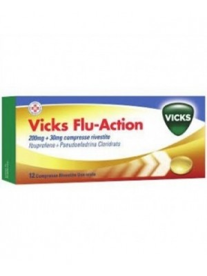 VICKS FLU ACTION*12CPR200+30M
