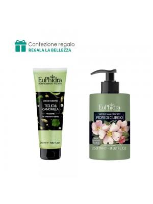 Doccia Shampoo (Tiglio e camomilla) + Sapone mani delicato (Fiori di ciliegio) Euphidra