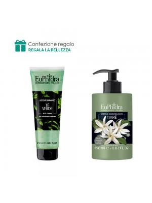 Doccia Shampoo (Tè verde) + Sapone mani delicato (Tiarè) Euphidra