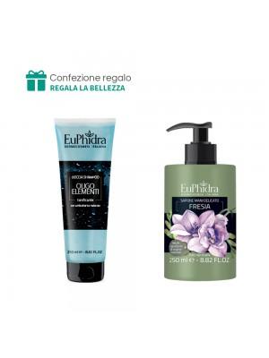 Doccia Shampoo (Oligoelementi) + Sapone mani delicato (Fresia) Euphidra