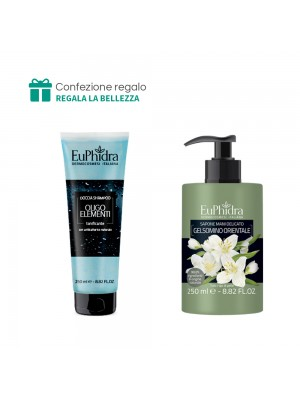 Doccia Shampoo (Oligoelementi) + Sapone mani delicato (Gelsomino orientale) Euphidra