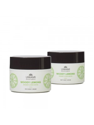 Scrub corpo + Crema corpo Umami (Woody Lemons)