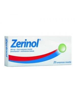 ZERINOL*20CPR RIV 300MG+2MG