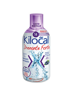 Kilocal drenante forte - gusto mirtillo 500ml
